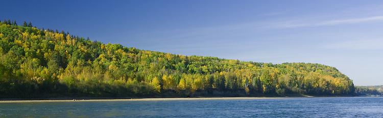 Fall morning along the North Saskatchewan River Valley