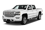 2018 GMC Sierra 1500 Denali 4WD Crew Cab Short Box Denali 4 Door Pick-up Angular Front stock photos of front three quarter view
