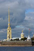 Peter und Paul-Festung mit Kirche auf der Haseninsel, St. Petersburg, Russland, UNESCO-Weltkulturerbe