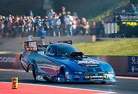 Jul 19, 2019; Morrison, CO, USA; NHRA funny car driver Matt Hagan during qualifying for the Mile High Nationals at Bandimere Speedway. Mandatory Credit: Mark J. Rebilas-USA TODAY Sports