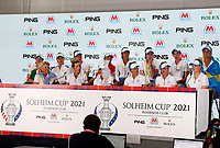 6th September 2021: Toledo, Ohio, USA;  Team Europe attends a press conference after Team Europe retained the Solheim Cup during the Solheim Cup on September 6, 2021 at Inverness Club in Toledo, Ohio.