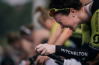 Sarah Roy (AUS/Mitchelton-Scott) maxing power output during prerace warmup <br /> <br /> UCI WOMEN'S TEAM TIME TRIAL<br /> Ötztal to Innsbruck: 54.5 km<br /> <br /> UCI 2018 Road World Championships<br /> Innsbruck - Tirol / Austria