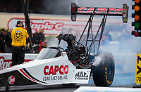 Sep 13, 2019; Mohnton, PA, USA; NHRA top fuel driver Steve Torrence during qualifying for the Keystone Nationals at Maple Grove Raceway. Mandatory Credit: Mark J. Rebilas-USA TODAY Sports
