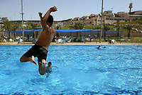 """The swimming pool in Maale Adumim on June 05. 2008 in Maale Adumim."""" Photo by Olivier Fitoussi """""""