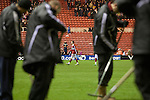 Middlesbrough 1 Preston North End 1, 22/01/2011. Riverside Stadium, Championship. Middlesbrough players leaving the pitch at the end of their match against Preston North End in an Npower Championship fixture at the Riverside Stadium. The match ended in a one-all draw watched by a crowd of 16,157. Middlesbrough relocated from their former home at Ayresome Park in 1995. Photo by Colin McPherson.