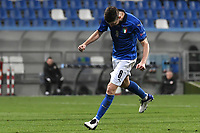 Jorge Luiz Frello Filho Jorginho of Italy celebrates after scoring the goal of 1-0 during the Uefa Nation League Group Stage A1 football match between Italy and Poland at Citta del Tricolore Stadium in Reggio Emilia (Italy), November, 15, 2020. Photo Andrea Staccioli / Insidefoto
