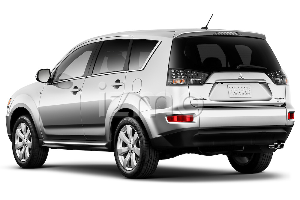 Rear driver side view of a 2011 Mitsubishi Outlander GT