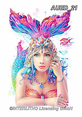 Carlie, REALISTIC ANIMALS, REALISTISCHE TIERE, ANIMALES REALISTICOS, paintings+++++Mermaid-Mystic-Collection,AUED21,#A#, EVERYDAY