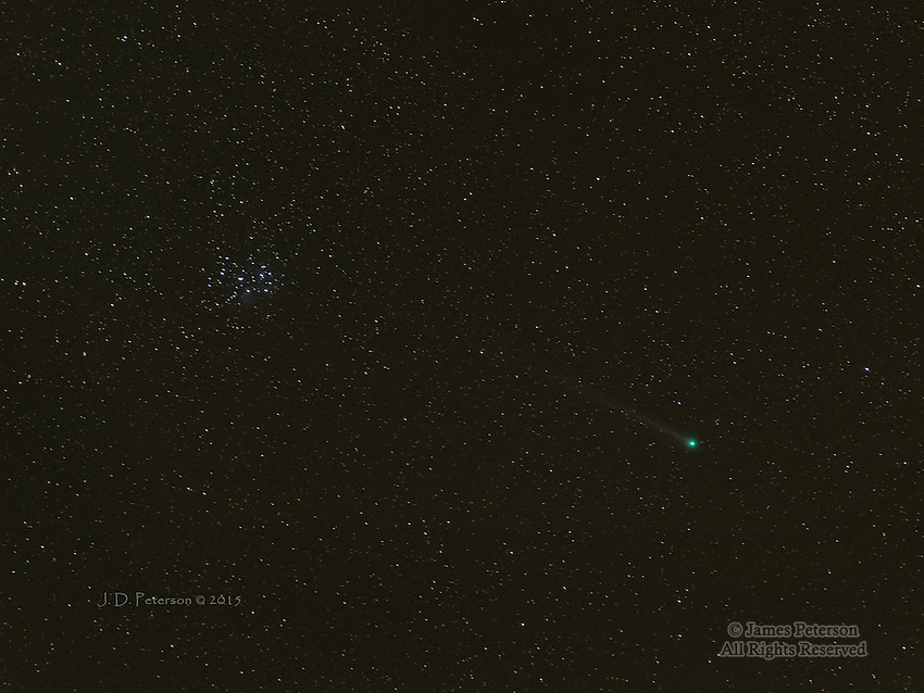 Comet Lovejoy 2014 and The Pleiades