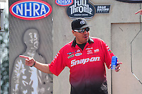 Aug. 7, 2011; Kent, WA, USA; NHRA funny car driver Cruz Pedregon during the Northwest Nationals at Pacific Raceways. Mandatory Credit: Mark J. Rebilas-