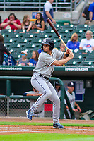 Colorado Springs Sky Sox second baseman Brad Miller (31) at bat during a Pacific Coast League game against the Iowa Cubs on June 22, 2018 at Principal Park in Des Moines, Iowa. Iowa defeated Colorado Springs 4-3. (Brad Krause/Four Seam Images)