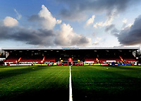 10th January 2021; Broadfield Stadium, Crawley, Sussex, England; English FA Cup Football, Crawley Town versus Leeds United; Stadium view on a cold bright day