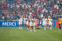 LYON, FRANCE - JULY 07: USWNT celebrate during a game between Netherlands and USWNT at Stade de Lyon on July 07, 2019 in Lyon, France.