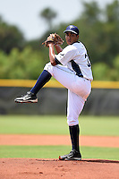 GCL Rays pitcher Angel Yepez (31) delivers a pitch during a game against the GCL Red Sox on June 24, 2014 at Charlotte Sports Park in Port Charlotte, Florida.  GCL Red Sox defeated the GCL Rays 5-3.  (Mike Janes/Four Seam Images)