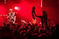 Die Hip-Hop-Gruppe Antilopen Gang aus Duesseldorf, Koeln und Berlin spielte am Samstag den 14. Maerz 2015 im ausverkauften Berliner Club SO36.<br /> Die Band besteht aus den Rappern Koljah Kolerikah (im Bild), Panik Panzer und Danger Dan und steht beim Toten Hosen-Label JKP unter Vertrag.<br /> 14.3.2015, Berlin<br /> Copyright: Christian-Ditsch.de<br /> [Inhaltsveraendernde Manipulation des Fotos nur nach ausdruecklicher Genehmigung des Fotografen. Vereinbarungen ueber Abtretung von Persoenlichkeitsrechten/Model Release der abgebildeten Person/Personen liegen nicht vor. NO MODEL RELEASE! Nur fuer Redaktionelle Zwecke. Don't publish without copyright Christian-Ditsch.de, Veroeffentlichung nur mit Fotografennennung, sowie gegen Honorar, MwSt. und Beleg. Konto: I N G - D i B a, IBAN DE58500105175400192269, BIC INGDDEFFXXX, Kontakt: post@christian-ditsch.de<br /> Bei der Bearbeitung der Dateiinformationen darf die Urheberkennzeichnung in den EXIF- und  IPTC-Daten nicht entfernt werden, diese sind in digitalen Medien nach §95c UrhG rechtlich geschuetzt. Der Urhebervermerk wird gemaess §13 UrhG verlangt.]