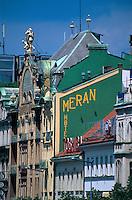 Wenzelsplatz (Vaclavske namesti), Hotel Europa + Hotel Meran, Prag, Tschechien, Unesco-Weltkulturerbe