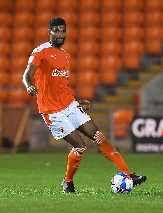 Blackpool's Michael Nottingham<br /> <br /> Photographer Dave Howarth/CameraSport<br /> <br /> EFL Trophy Northern Section Group G - Blackpool v Barrow - Tuesday 8th September 2020 - Bloomfield Road - Blackpool<br />  <br /> World Copyright © 2020 CameraSport. All rights reserved. 43 Linden Ave. Countesthorpe. Leicester. England. LE8 5PG - Tel: +44 (0) 116 277 4147 - admin@camerasport.com - www.camerasport.com