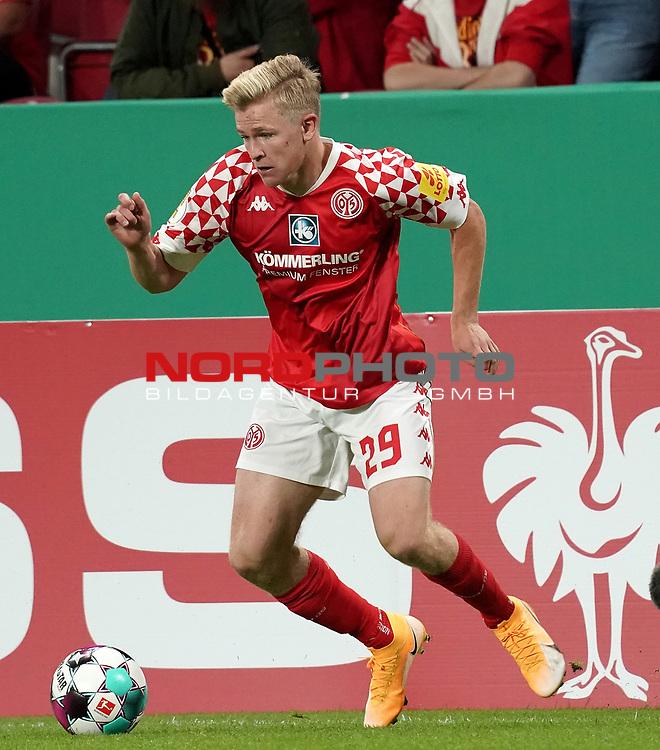 11.09.2020, Opel Arena, Mainz, GER, DFB-Pokal, 1. Runde TSV Havelse vs 1. FSV Mainz 05<br /> , im Bild<br />Jonathan Burkhardt (FSV Mainz 05)<br /> <br /> Foto © nordphoto / Bratic