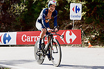Ineos Grenadiers rider climbs during Stage 13 of the Vuelta Espana 2020 an individual time trial running 33.7km from Muros to Mirador de Ézaro. Dumbría, Spain. 3rd November 2020. <br /> Picture: Luis Angel Gomez/PhotoSportGomez | Cyclefile<br /> <br /> All photos usage must carry mandatory copyright credit (© Cyclefile | Luis Angel Gomez/PhotoSportGomez)