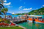 Deutschland, Bayern, Oberbayern, Tegernseer Tal, Rottach-Egern am Tegernsee, Rundfahrt auf dem See | Germany, Bavaria, Upper Bavaria, Tegernseer Valley, Rottach-Egern at Lake Tegern: sightseeing trip by boat
