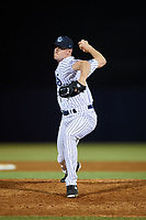 Tampa Tarpons relief pitcher Matt Frawley (48) delivers a pitch during a game against the Daytona Tortugas on April 18, 2018 at George M. Steinbrenner Field in Tampa, Florida.  Tampa defeated Daytona 12-0.  (Mike Janes/Four Seam Images)