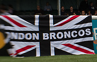 London Broncos flag during the Betfred Championship match between London Broncos and Rochdale Hornets at Castle Bar , West Ealing , England  on 17 June 2018. Photo by Andrew Aleksiejczuk / PRiME Media Images.