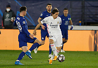 April 27th 2021; Alfredo Di Stefano Stadium, Madrid, Spain; UEFA Champions League. Luka Modric Madrid  during the Champions League match, semifinals between Real Madrid and Chelsea FC played at Alfredo Di Stefano Stadium