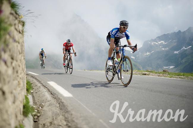 Suisse champion Martin Elmiger (SUI/IAM) coming down fast over the top of the Col du Tourmalet (HC/2115m/17.1km/7.3%) <br /> <br /> 2014 Tour de France<br /> stage 18: Pau - Hautacam (145km)