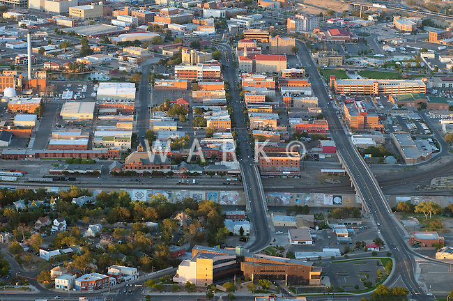 Historic District and Mesa Junction aerial