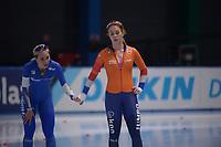 SPEEDSKATING: 24-11-2019 Tomaszów Mazowiecki (POL), ISU World Cup Arena Lodowa, 1500m Ladies Division A, Francesca Lollobrigida (ITA), Antoinette de Jong (NED), ©photo Martin de Jong