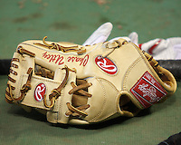 Phillies 2B Chase Utley's glove. Photo by Andrew Woolley / Four Seam Images.
