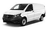 2019 Mercedes Benz Vito Base 4 Door Car Van Angular Front stock photos of front three quarter view