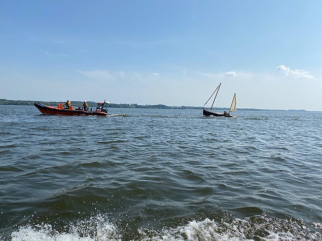 The casualty vessel was retrieved and taken back to its mooring on Lough Neagh
