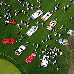 Amelia IslandConcours d' Elegance - 2007, Porsche Racing 911's and Daytona, Sebring, Le Mans prototypes - helicopter aerial