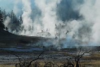 Firehole Lake drive in Yellowston National Park