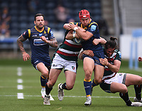 29th May 2021; Sixways Stadium, Worcester, Worcestershire, England; Premiership Rugby, Worcester Warriors versus Leicester Tigers; Harri Doel of Worcester Warriors drives through the Leicester Tigers defence