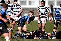 Mason Lund of Nelson College, during the 1st XV South Island Final rugby match between Otago Boys High School 1st XV and Nelson College 1st XV at Littlebourne in Dunedin, New Zealand on Saturday, 31 August 2019. Photo: Joe Allison / lintottphoto.co.nz