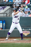 Gavin Sheets (24) of the Winston-Salem Dash at bat against the Buies Creek Astros at BB&T Ballpark on May 5, 2018 in Winston-Salem, North Carolina. The Dash defeated the Astros 6-2. (Brian Westerholt/Four Seam Images)