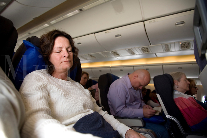 Airline traveler. at Denver International Airport