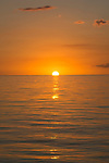 Sunset on the ocean, Cuba, Protected Marine park underwater,