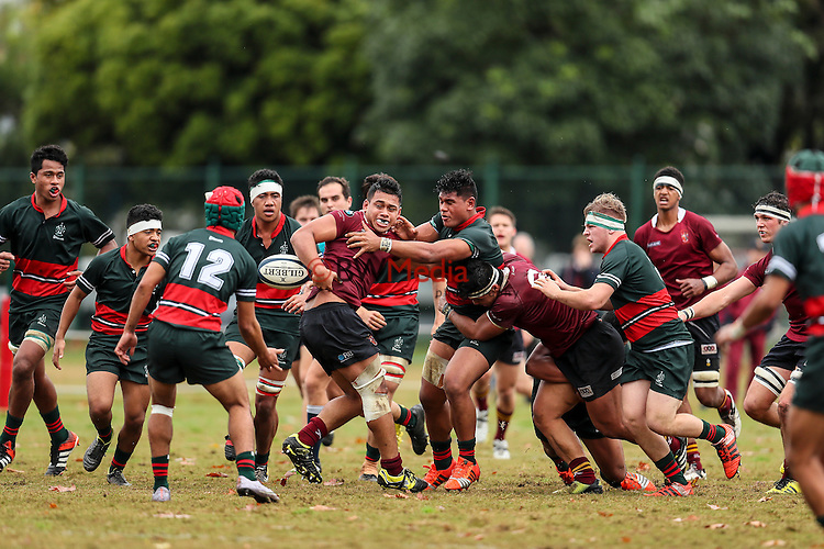 1st XV rugby union, Dilworth v Kings College, Dilworth College Auckland, New Zealand. Saturday 25 June 2016. Photo: Simon Watts/www.bwmedia.co.nz for Kings College