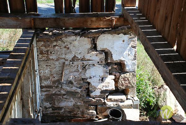 Barn Restoration by August Barn Co..Foundation repair