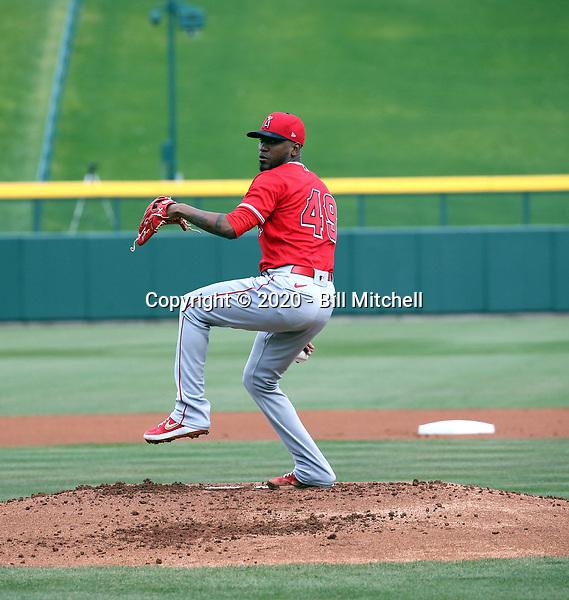 Julio Teheran - Los Angeles Angels 2020 spring training (Bill Mitchell)