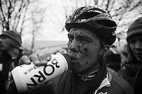 joris Nieuwenhuis (NLD) post-race after finishing 4th<br /> <br /> 2014 UCI cyclo-cross World Championships