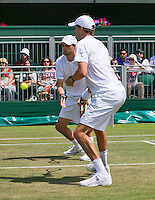 England, London, 28.06.2014. Tennis, Wimbledon, AELTC, Bryan brothers (USA)<br /> Photo: Tennisimages/Henk Koster