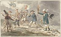 2AHJ40E Cartoon on the retreat of Napoleon I Bonaparte from Russia, Jacob Smies, 1812 - 1814.jpg - 2AHJ40E