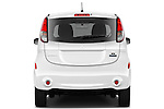 Straight rear view of a 2012 Mitsubishi MiEV SE