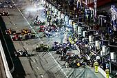 #5: Pato O'Ward, Arrow McLaren SP Chevrolet, #12: Will Power, Team Penske Chevrolet, pit stop, #2: Josef Newgarden, Team Penske Chevrolet, #26: Colton Herta, Andretti Autosport w/ Curb-Agajanian Honda