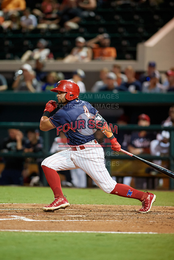 Clearwater Threshers Drew Stankiewicz (4) bats during the Florida State League All-Star Game on June 17, 2017 at Joker Marchant Stadium in Lakeland, Florida.  FSL North All-Stars defeated the FSL South All-Stars  5-2.  (Mike Janes/Four Seam Images)