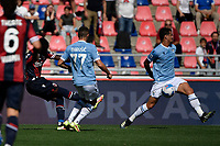 Musa Barrow of Bologna FC scores the goal of 1-0 during the Serie A football match between Bologna FC and SS Lazio at Renato Dall'Ara stadium in Bologna (Italy), October 3rd, 2021. Photo Andrea Staccioli / Insidefoto